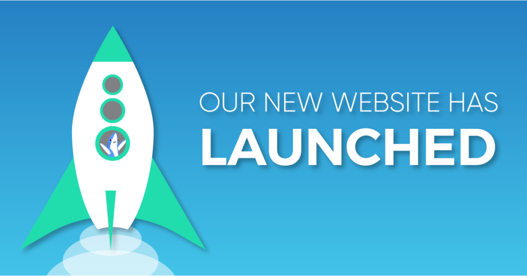 Image announcing our new website has launched